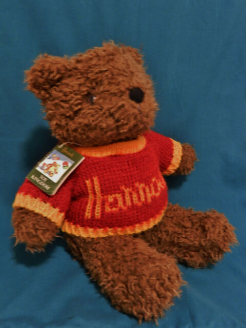 EXTREMELY RARE~HARROD'S BEAR RED SWEATER LONDON'S HEATHROW AIRPORT  PLUSH W/TAG