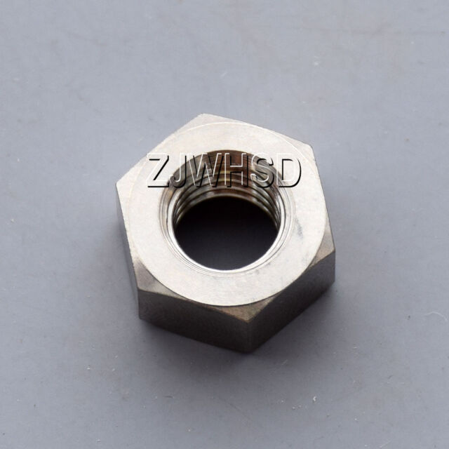 2pcs M10 Titanium Ti Hex Flange Nut Aerospace Grade for Bike Motorcycle Car Boat