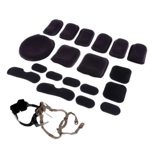 Shockproof Helmet Inner Cushion Pad Set MICH FAST Helmet Retention System
