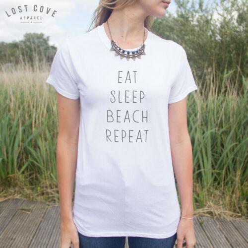 * manger dormir plage répéter t-shirt top veuillez partie Rave d/'été HIPSTER MODE *