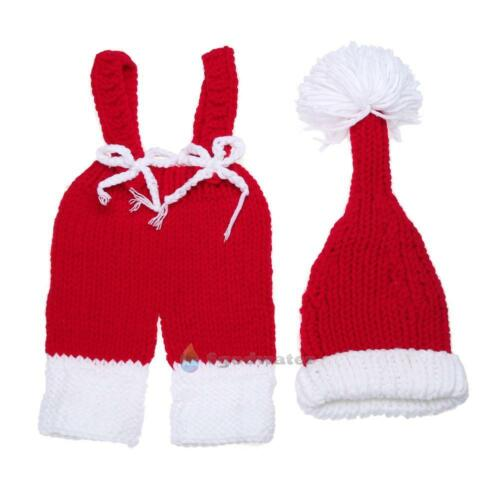 Cute Animal Shape 2pcs Newborn Children Baby Crochet Knit Props Clothes Outfits