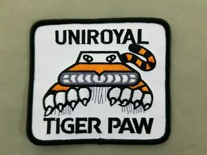 Uniroyal Tiger Paw Embroidered Iron On Patch