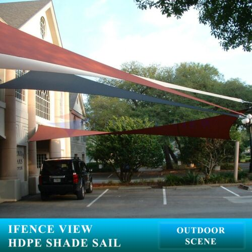 Ifenceview Grey Right Triangle 10/'x10/'x14.1/' Sun Shade Sail Awning Pool Outdoor