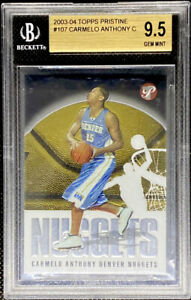Carmelo Anthony 2003-04 Topps Pristine Rookie RC GEM MINT BGS 9.5
