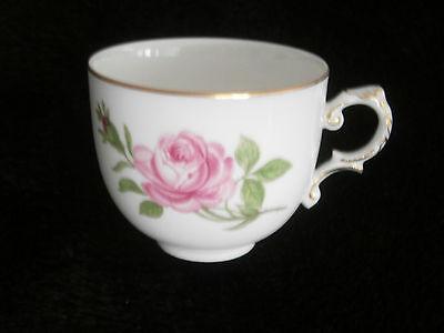 Alt Fürstenberg Rote Rose Kaffeetasse mit Untertasse Tasse Untere Gedeck