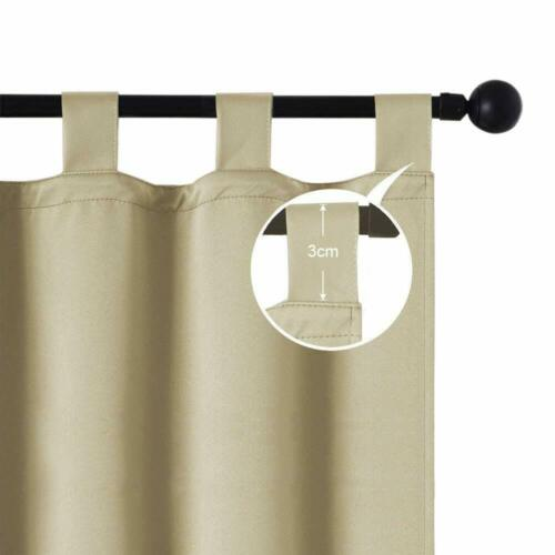 Privacy Outdoor Tab Top Blackout UV Ray Protected Curtains Drape 50x84Inch,6PACK