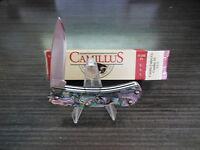 Brand Camillus Lock Back Authentic Abalone Handle Pocket Knife
