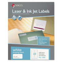 Maco White Laser/inkjet Shipping & Address Labels 2 X 4 1000/box Ml1000 on sale