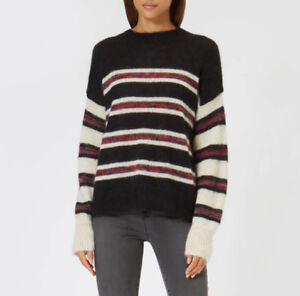 3415d12c7e NWT ISABEL MARANT ETOILE Russell Striped Mohair Wool Sweater Jumper ...