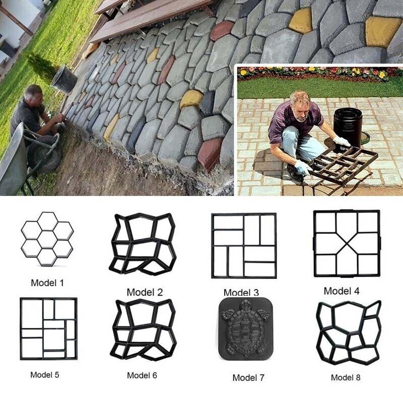 1X Stepping Stone Mold Pavement Mold Concrete Cement Hot Decor Garden Sale F6D9