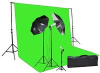 Fancier Chromakey Green Screen Kit 1000 Watt Video Lighting Kit Photo Studio Kit
