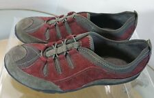eb14b3ddfd1 Clarks Privo Women s Size 6.5 M Green Burgundy Leather Slip On Bungee Loafer