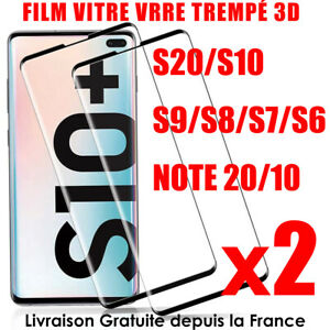 FILM PROTECTION ECRAN VERRE TREMPE SAMSUNG S9 S10 S20 Note 20 Ultra total 3D