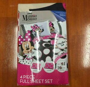 Disney-Minnie-Mouse-4-Piece-Microfiber-Full-Sheet-Set