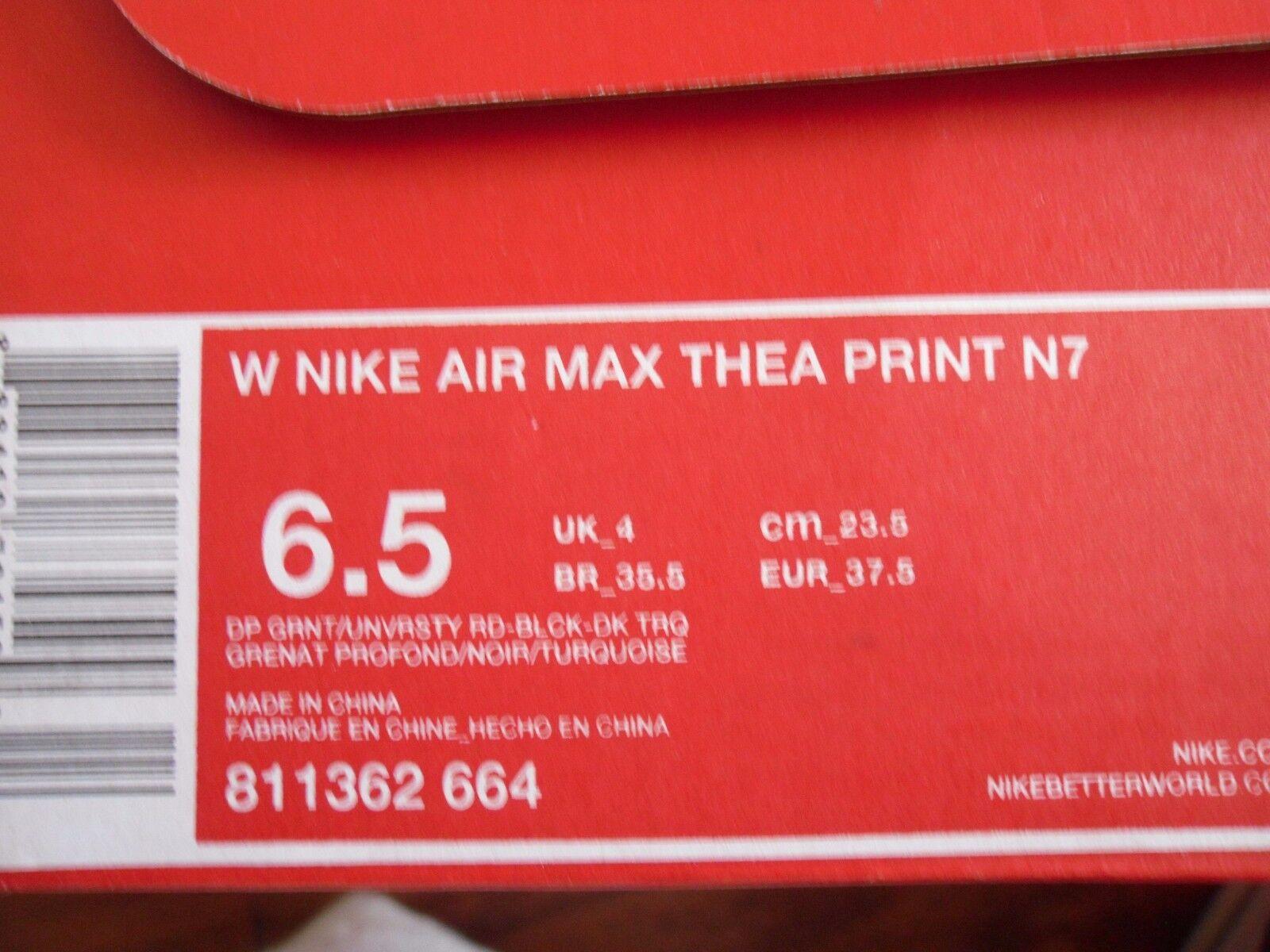 WMNS NIKE AIR AIR AIR MAX THEA PRINT N7 GARNET-UNIVERSITY rouge SZ 6.5 10855b
