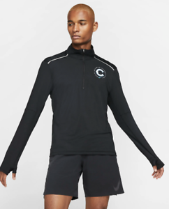 Nike-Element-Mens-Chicago-Marathon-2019-1-2-Zip-Long-Sleeve-Running-Top-Shirt-XL