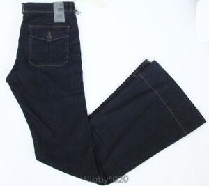 78cbdbe47f2a6 David Kahn Wide Leg Trouser Jean Flare sz 29 Womens Stretch Dark ...