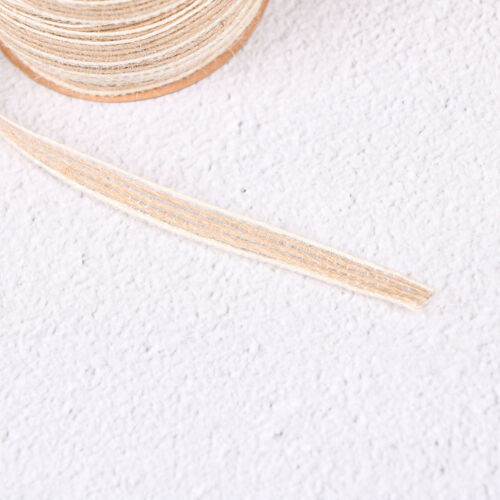 10m roll natural jute burlap rustic hessian ribbon tape strap wedding decor TK