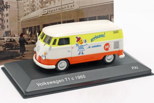 orange gelb 1:43 Altaya Volkswagen VW T1c Bus Baujahr 1965 weiß
