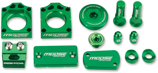 Moose Racing Green Anodized Bling Pack Kawasaki 11-18 KX250F KX450F Engine Plugs