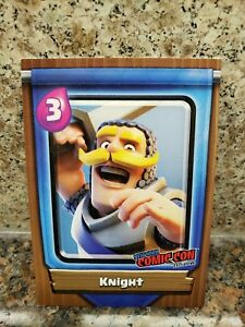 Topps-Clash-Royale-Level-9-KNIGHT-Card-NYCC-2018-Comic-Con-Clash-of-Clans-Game