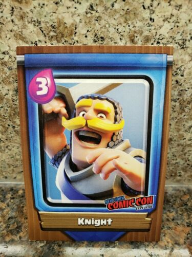 Topps Clash Royale Level 9 KNIGHT Card NYCC 2018 Comic Con Clash of Clans Game