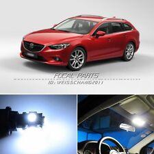 12 x Xenon White LED Lights Interior Package Kit For Mazda 6 09-14 K174