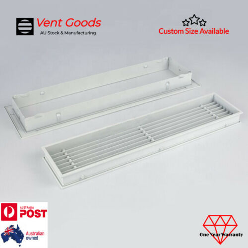 Removable Core Linear Bar Grille Diffuser Outlet Vent Ducted Air Conditioner