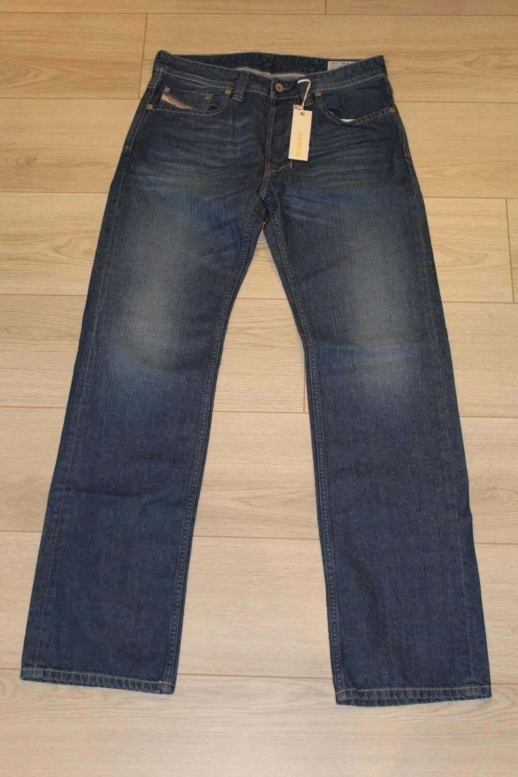 MEN'S DIESEL LARKEE WASH 0RK8M Faded Regular Straight Jeans Denim W29 L32