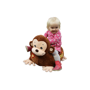 Plush Monkey Sofa Riding Chair (Brown)
