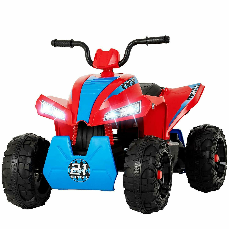12V Quad Kinder Elektro Fahrzeug Kinderauto ATV Elektromotorrad Rot+Blau