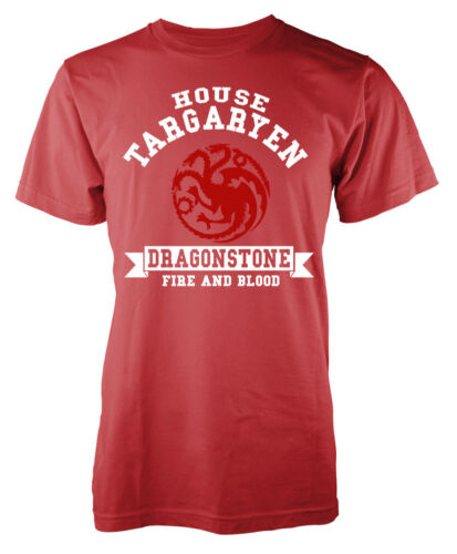Game Of Thrones Inspired House Targaryen Dragonstone Fire and Blood Adult T-S...