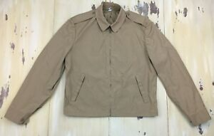 BLAUER-Vtg-60s-Khaki-Zip-up-Harrington-Military-Police-Jacket-Mens-40R-MEDIUM