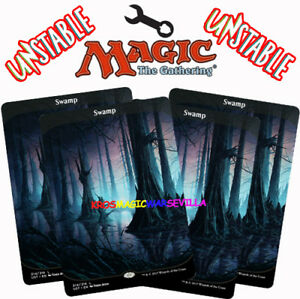 MTG-4-X-SWAMP-Pantano-UNSTABLE-ENGLISH-CARD-MAGIC-FULL-ART