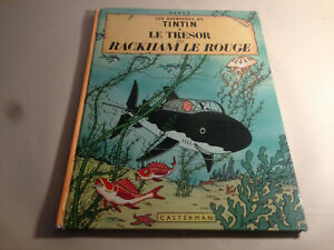 """TINTIN 12B40 HERGÉ 1973 """"LE TRÉSOR de RACKHAM LE ROUGE"""" 62p. Souvenir coté 20 e."""