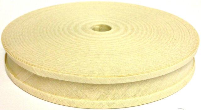 1 Bias Binding Tape 25mm - 100/% Cotton 10mtrs Mustard Yellow