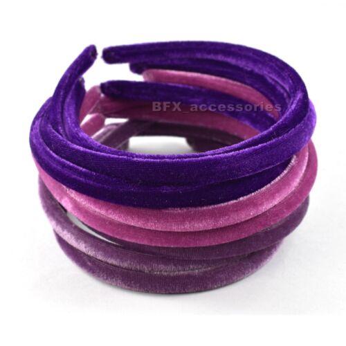 12x VELVET ALICE BAND headband head hair bands aliceband alicebands Womens Girls
