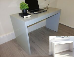 Image Is Loading Modern White Grey High Gloss Console Table Hallway