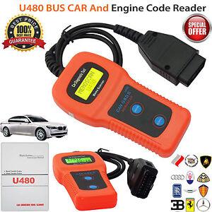 Details about Car Diagnostic Scanner Tool U480 CAN OBDII OBD2 Memo Engine  Fault Code Reader