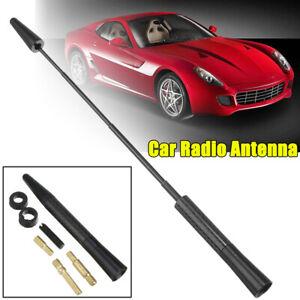 Black-JDM-Short-Stubby-Antenna-Car-Decor-Screw-Aerial-Mast-Adjustable-Universal