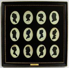CIRCA 1820s GROUP OF SILHOUETTE S FRAMED, ROSE FAMILY OF PHILADELPHIA PA, PEALE