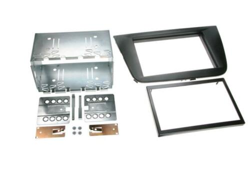 Para Seat Leon 1p 1pn auto radio diafragma instalación marco doble DIN 2-din negro