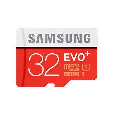 Samsung 32GB Evo+ Micro SDHC TF Memory Card UHSI Class10 FFP 80MBs
