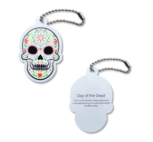 Details about Sugar Skull Day of the Dead Trackable Travel Bug for  Geocaching Unactivated