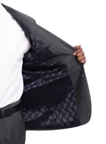 Men/'s Arthur Black Classic Fit Solid Charcoal Gray Two Button 2 Piece Wool Suit