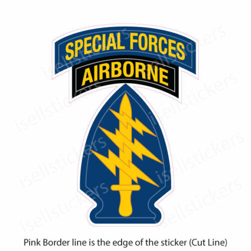 AR-2120 Army Special Forces Airborne Military Bumper Sticker Vinyl Window Decal