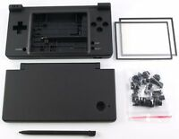 Nintendo Dsi Ndsi Full Replacement Housing Shell Case Screen Lens Black