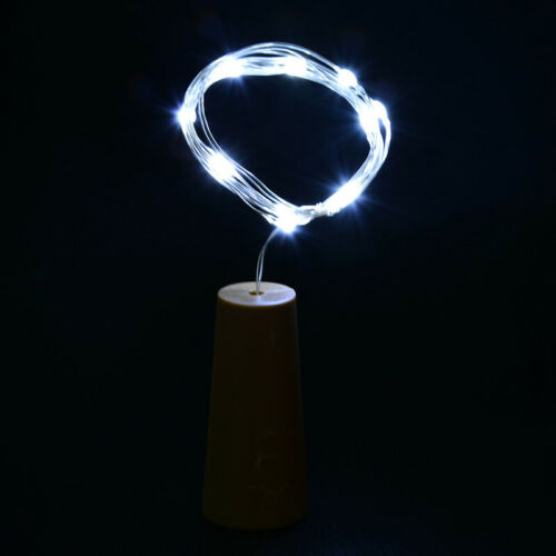 10//20LED Wine Bottle Cork Fairy String Lights 1//2M Wedding Xmas Party Decor Lamp