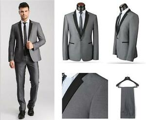 Image Is Loading Slim Fit Grey Best Man Groom Men 039