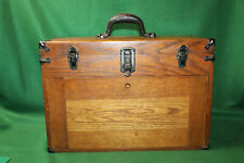 Vintage Large Oak Machinist Tool Chest 7 Seven Drawers Withmirror Amp Tools Mm20